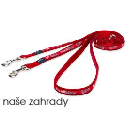 Vodítko ROGZ Fancy Dress Red Bone přepínací S 3d5f369537c